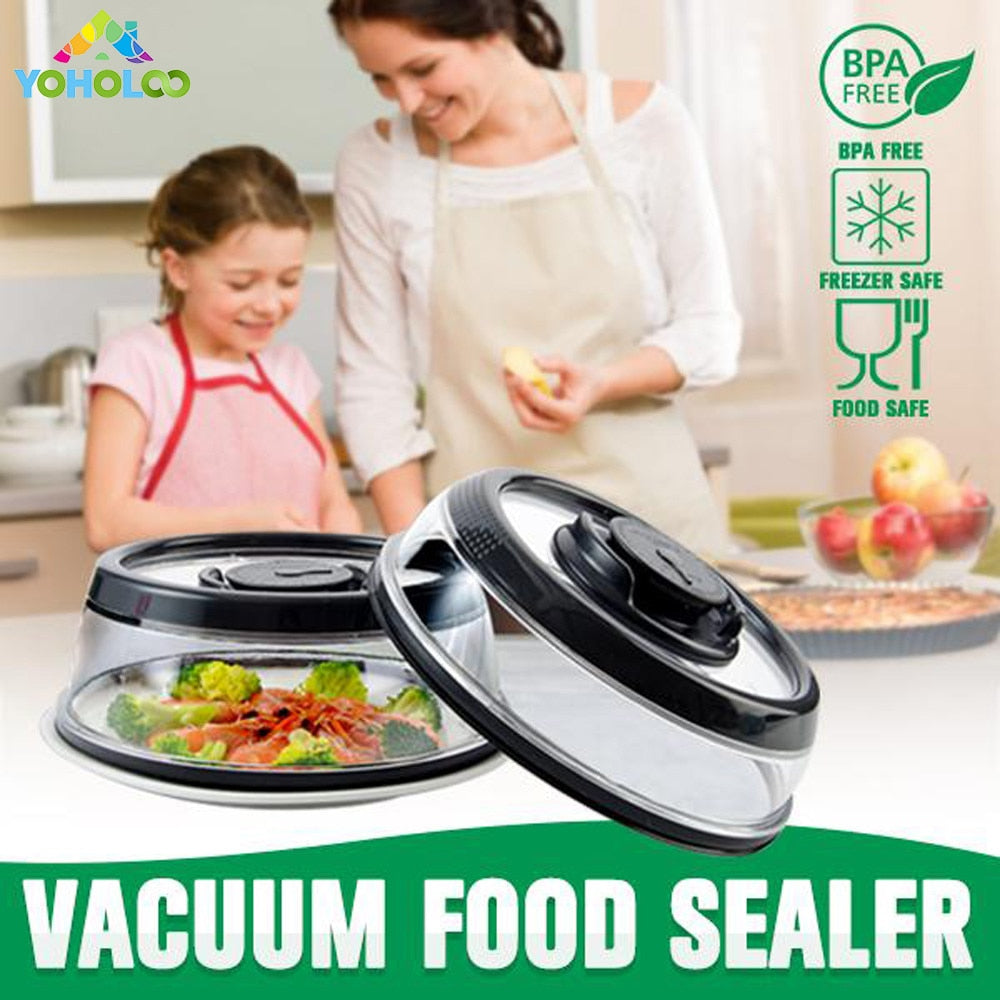 Instant vacuum food sealer Mintiml Cover Kitchen Instant Vacuum Food Sealer Fresh Cover Refrigerator Dish Cover Kitchen Tool