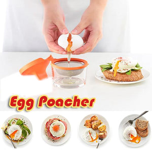 2Pcs Egg Poachers Perfectly Cooker Egg Boiler Cup Skillet Kitchen Steamed Egg Set Double Cooking Tools Microwave Ovens