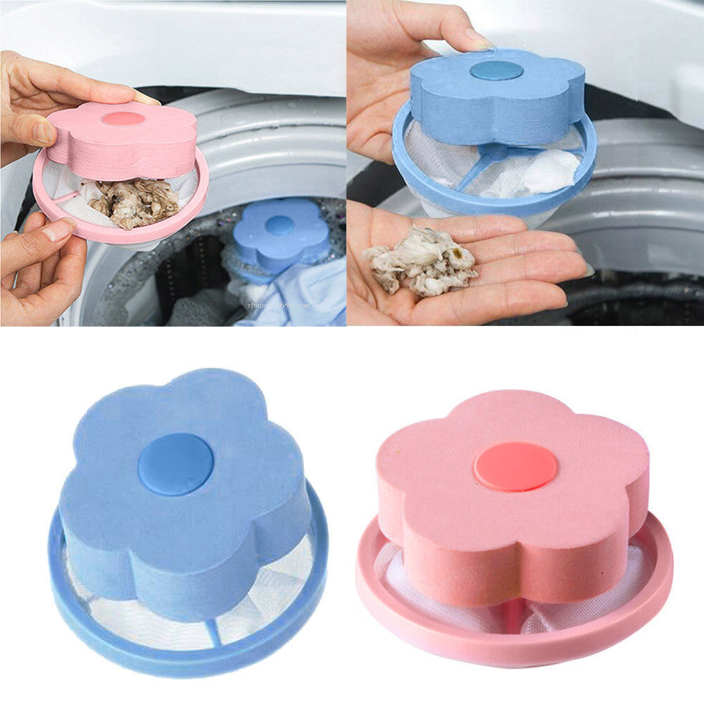 Washing Machine Lint Filter Bag Laundry Mesh Hair Catcher Floating Ball Pouch 30g Pink,Blue