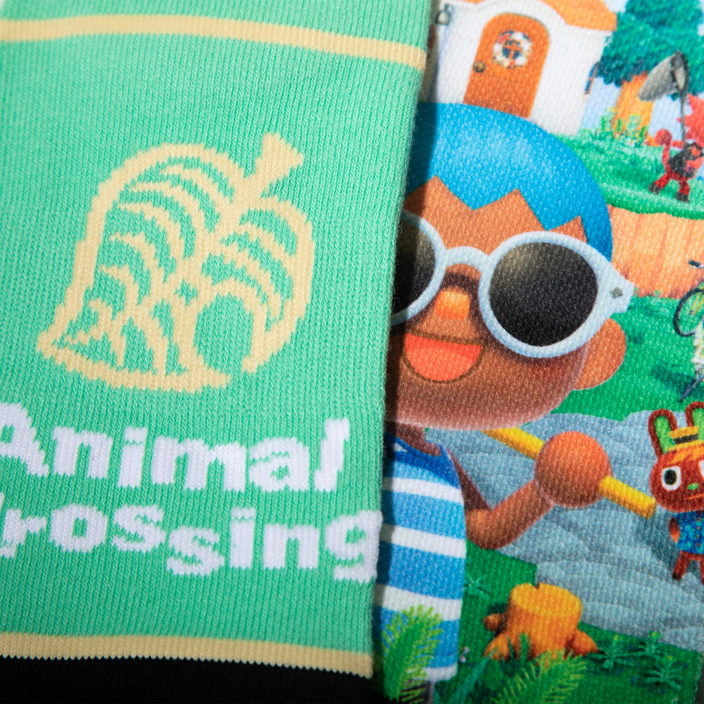 Animal Crossing Village Selfie Socks
