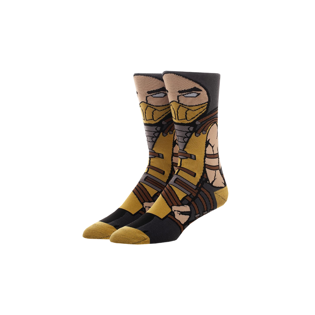Mortal Kombat Scorpion Crew Socks