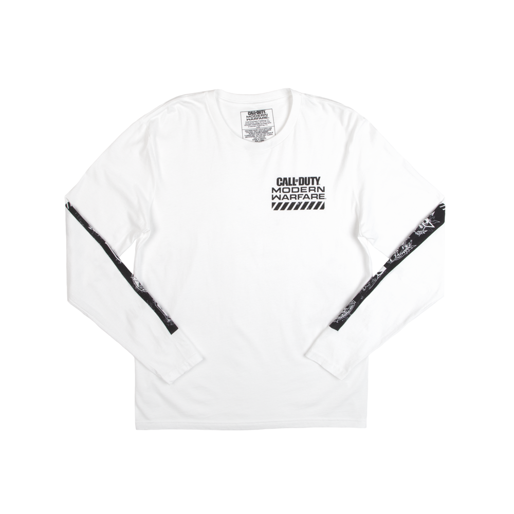 Call of Duty: Modern Warfare Badges White Long Sleeve Tee