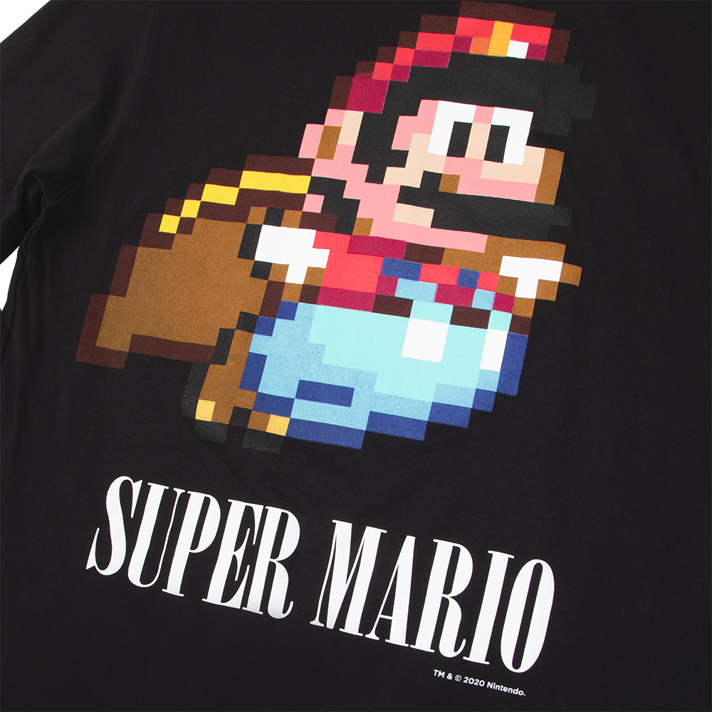 Super Mario Black Long Sleeve
