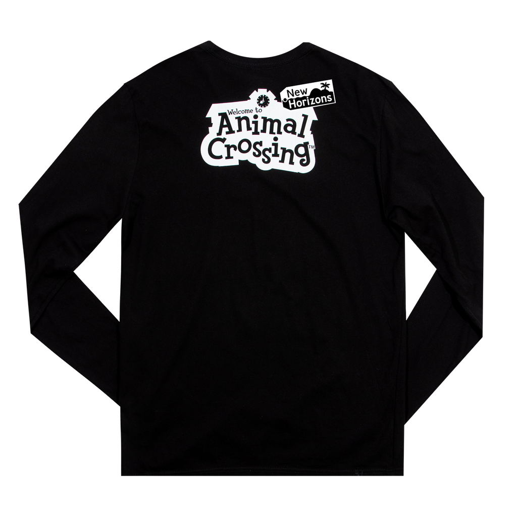 Animal Crossing Sisters Kanji Black Long Sleeve