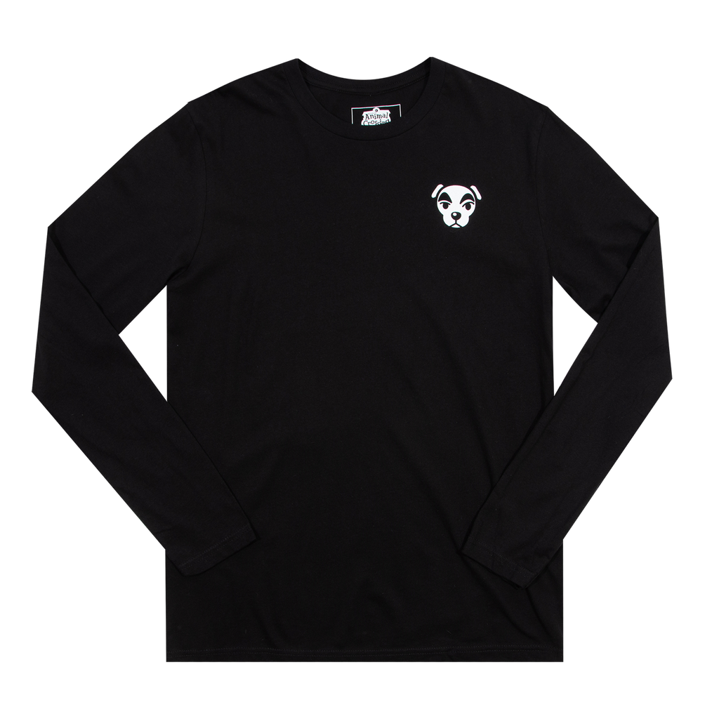 Animal Crossing K.K. Slider Kanji Black Long Sleeve