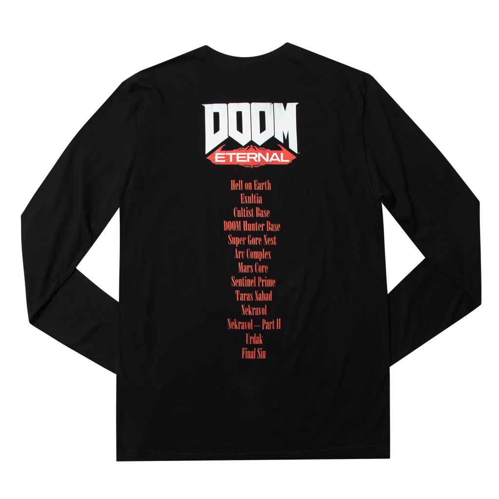 Doom Metal Rip & Tear Black Long Sleeve