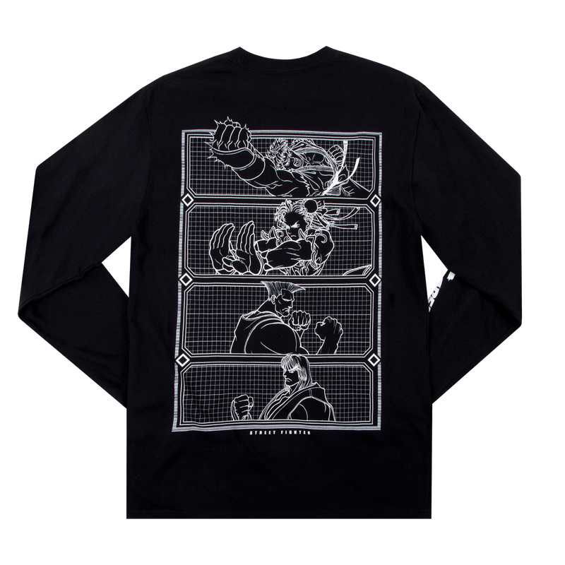 Street Fighter Group Black Long Sleeve