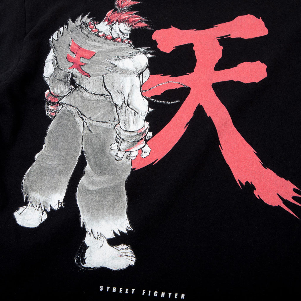 Street Fighter Akuma Black Long Sleeve