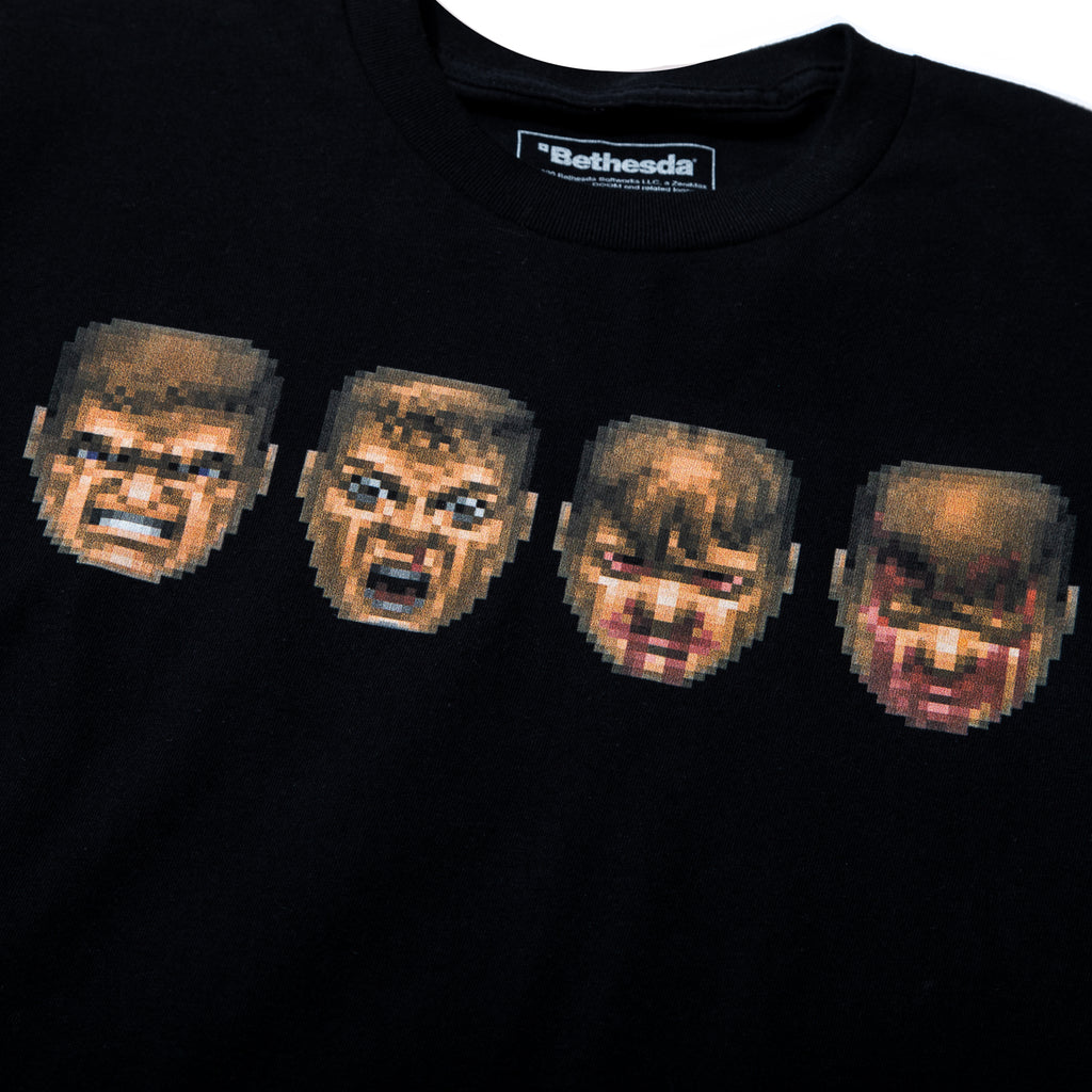 Doom Faces Black Tee