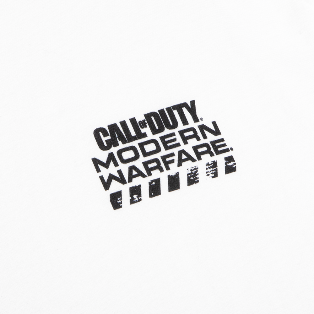 Call Of Duty Modern Warfare Icons White Tee Graph Gaming