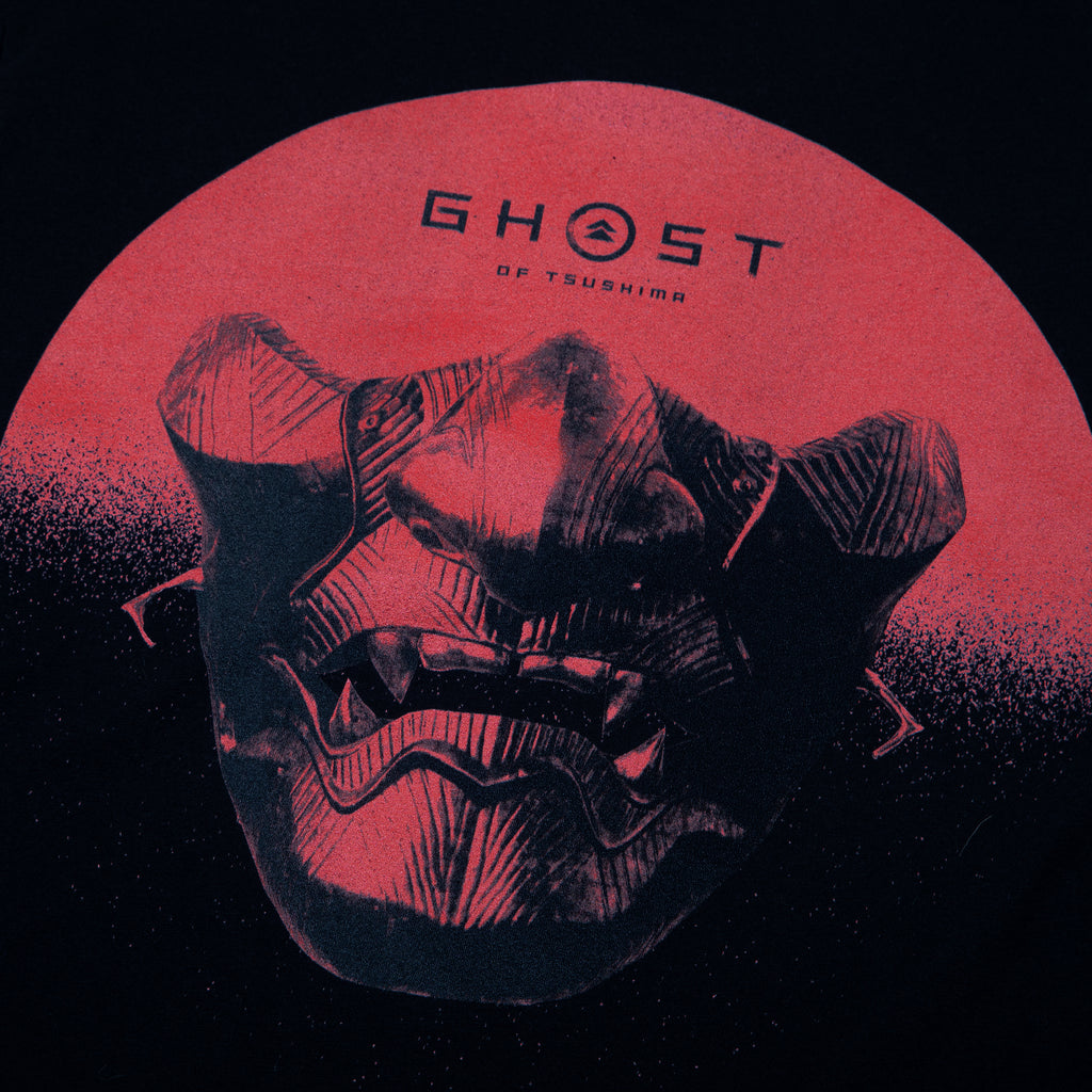 The Ghost of Tsushima Mask Black Tee