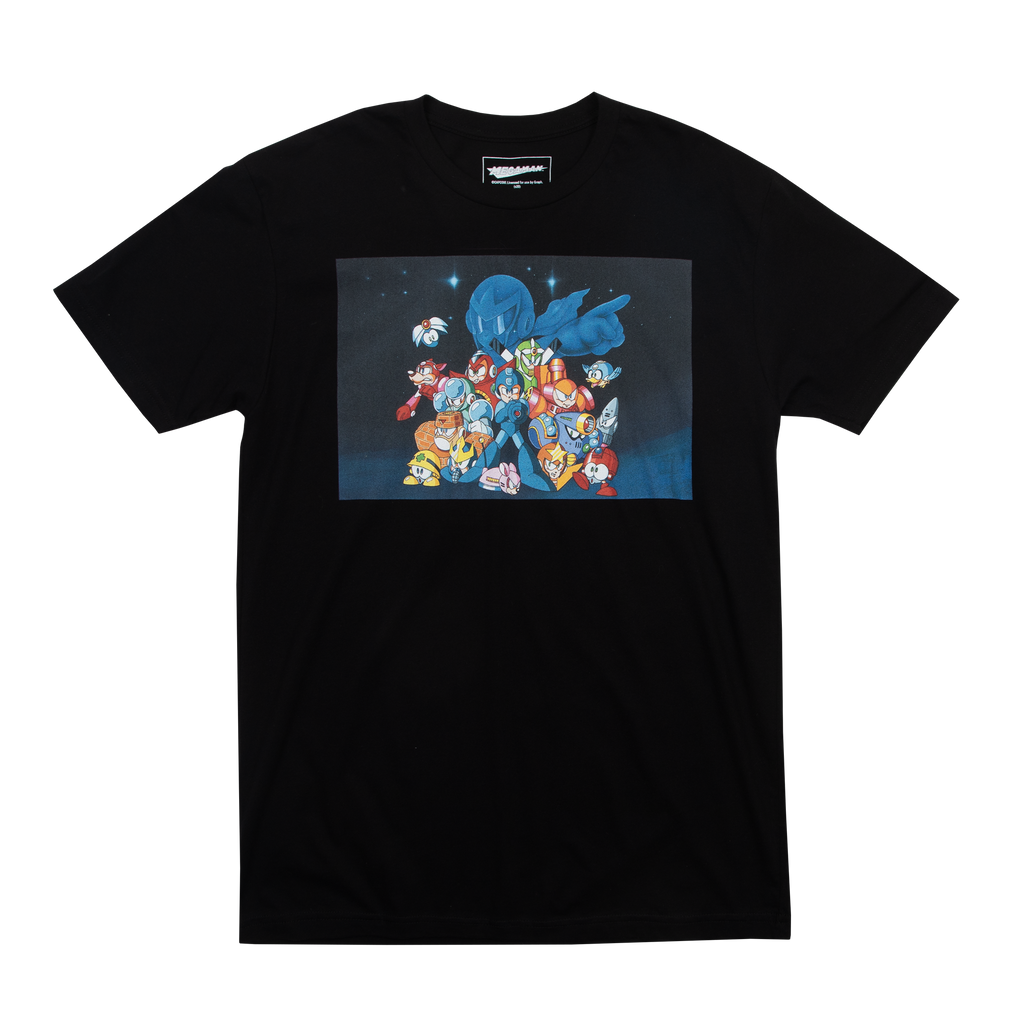 Mega Man Group Black Tee