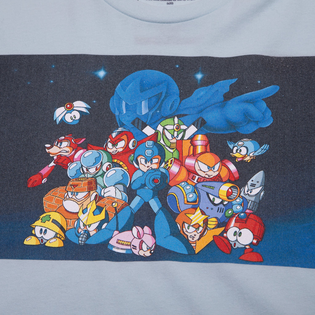 Mega Man Group Light Blue Tee