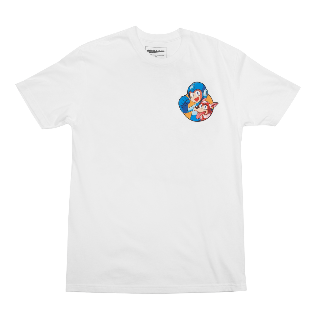 Mega Man Rush Group White Tee