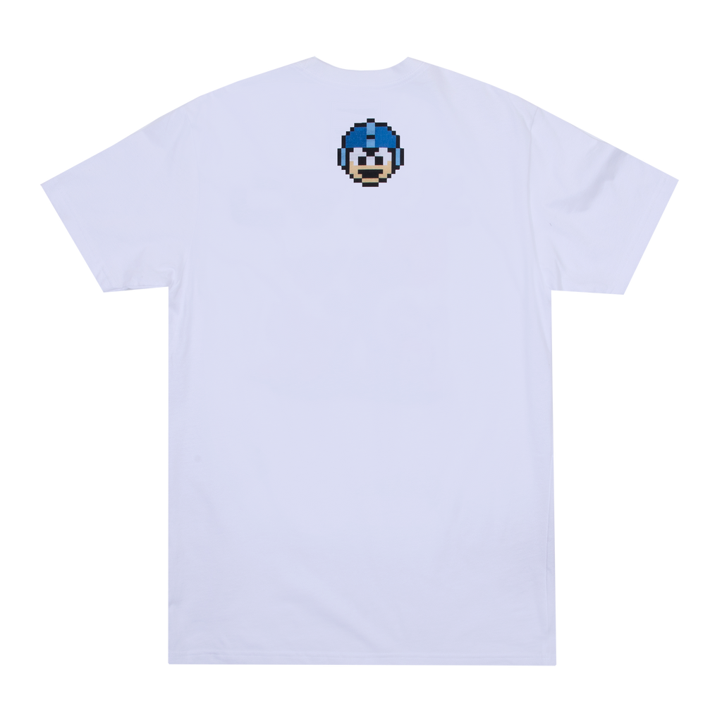 Mega Man and Rush Kanji White Tee