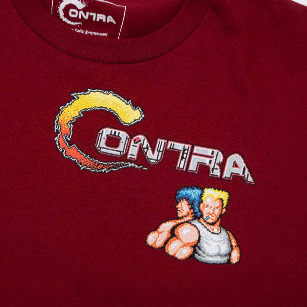 Contra Icons Maroon Tee