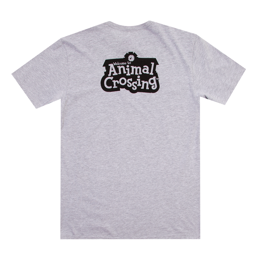 Animal Crossing Sisters Kanji Grey Tee
