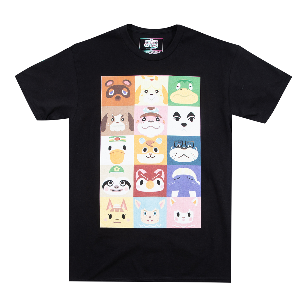 Animal Crossing Squares Black Tee