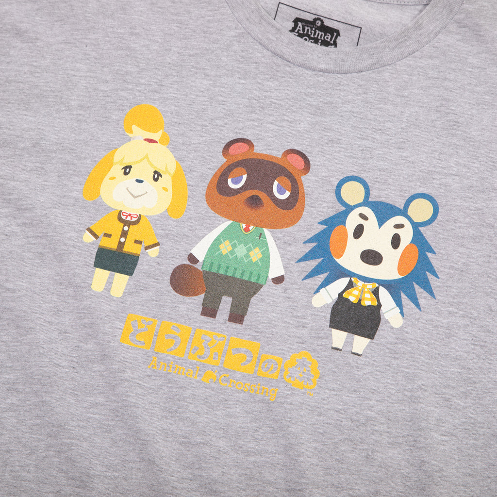 Animal Crossing Kanji Grey Tee