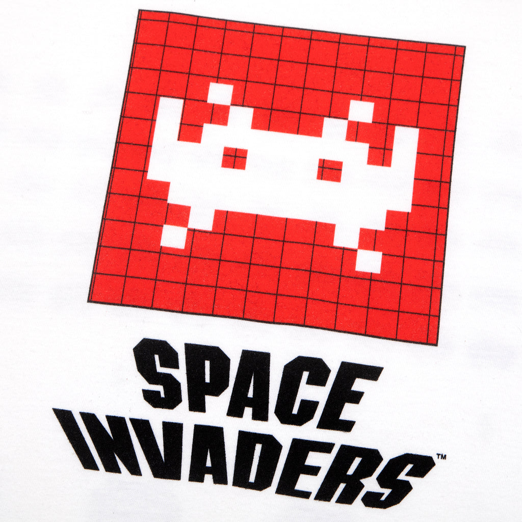 Space Invaders Invaded White Tee