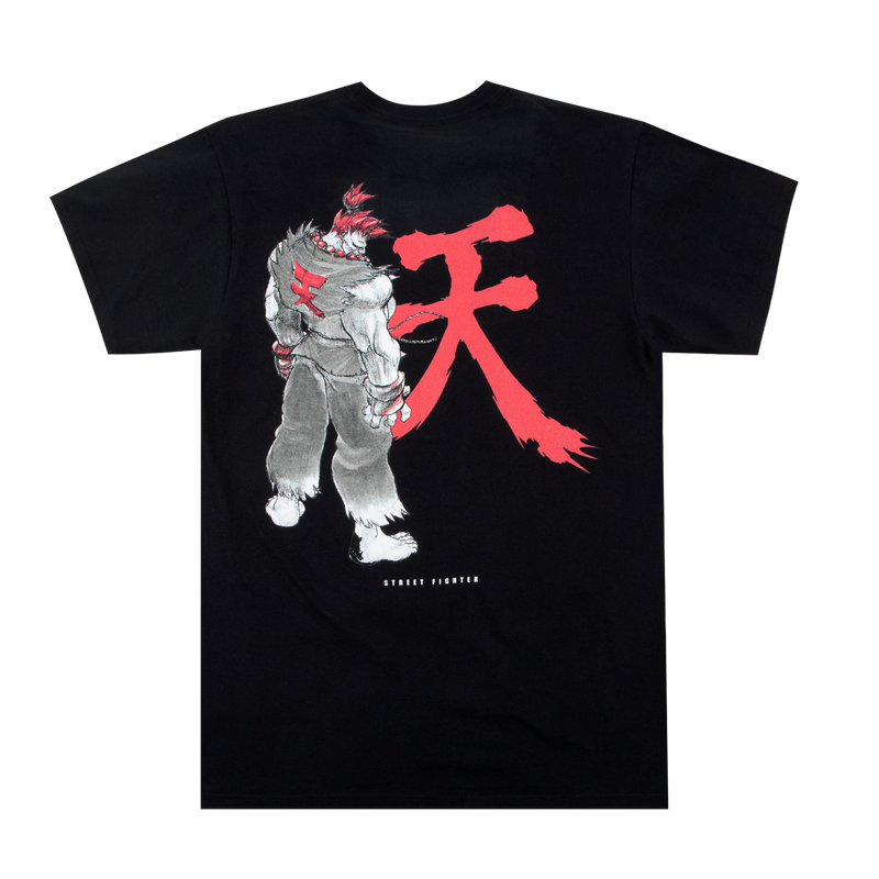 Street Fighter Akuma Black Tee