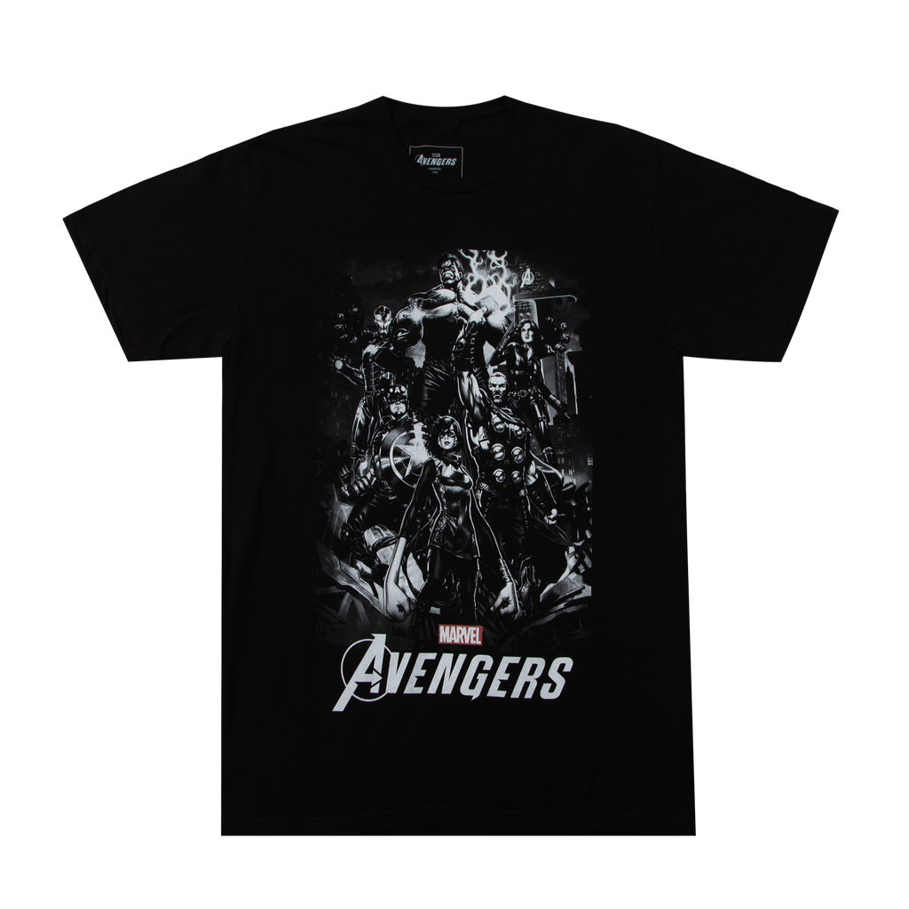 Marvel Avengers Hero Shot Black Tee