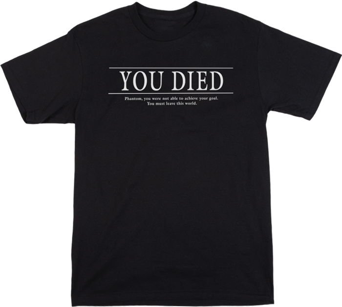 Demon's Souls You Died Black Tee
