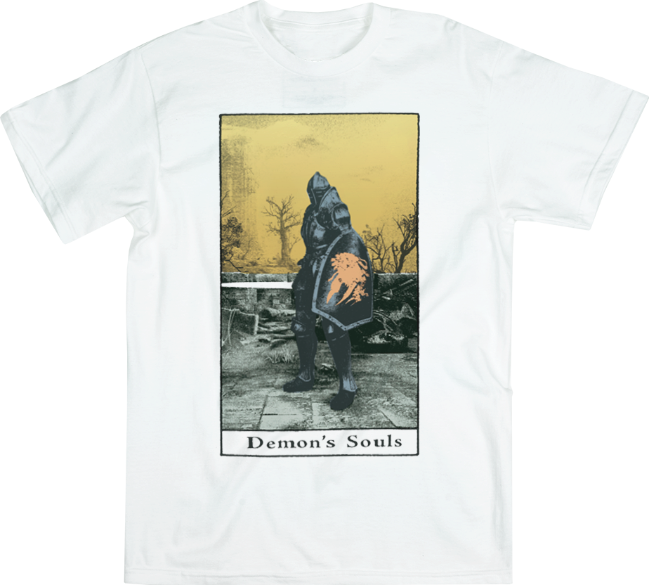 Demon's Souls Golden Sky White Tee