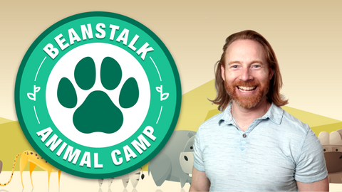 Animal Camp Online Activities for Kids Logo with Mr. Josh