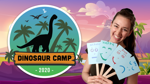 Dinosaur Online Activities for Kids Logo with Ms. Amalia