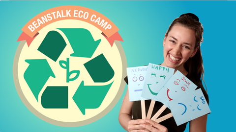 Ms. Amalia and the Eco Camp Logo for Online Kids Activities