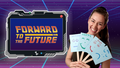 Forward to the Future Online Activities for Kids Logo with Ms. Amalia
