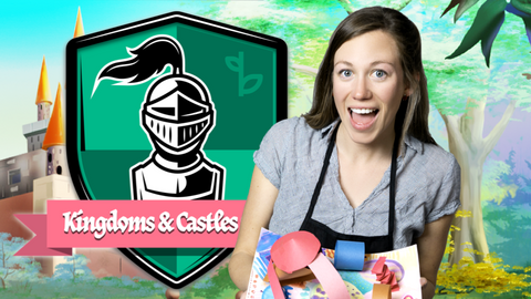 Kingdoms and Castles Online Activities for Kids Logo with Ms. Kelsey