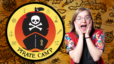 Pirate Camp Logo Online Activities for Kids with Ms. Soleil
