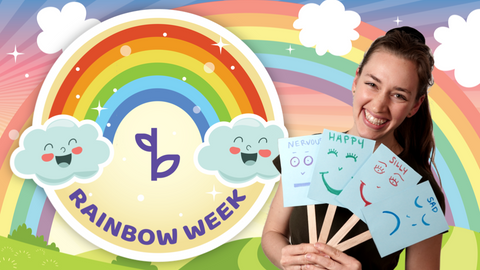 Rainbow Online Activities for Kids Logo with Ms. Amalia