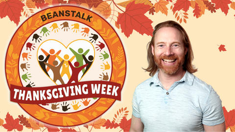 Thanksgiving Online Activities for Kids Logo and Mr. Josh