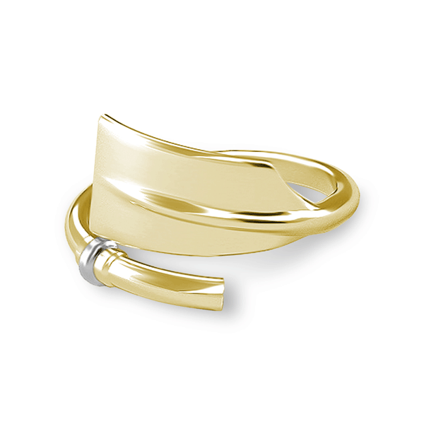 14K Gold Rowing Cleaver Oar Ring