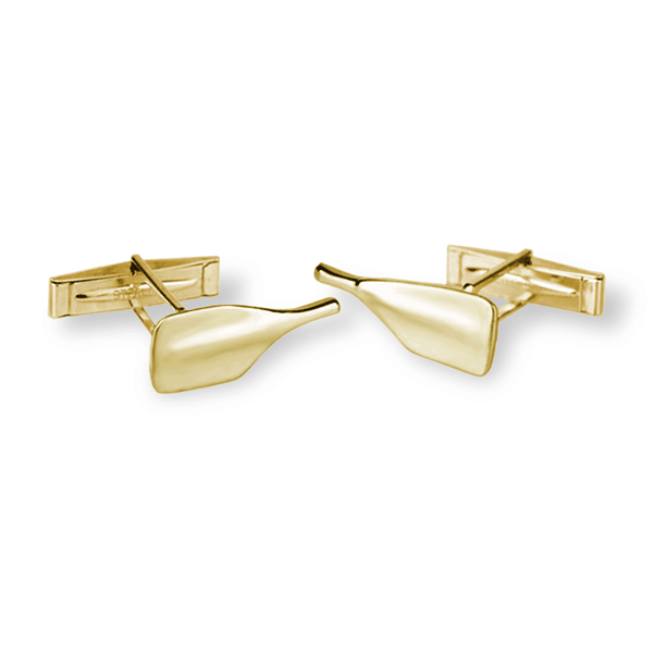 14K Gold Rowing Cleaver Oar Cufflinks