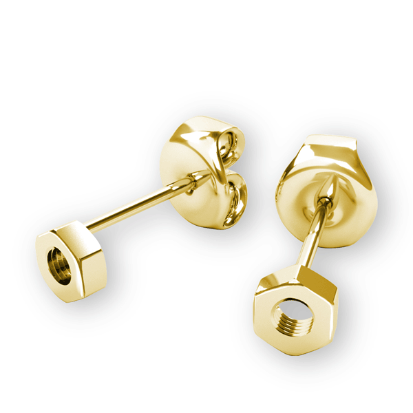 14K Rowing Nut Earrings