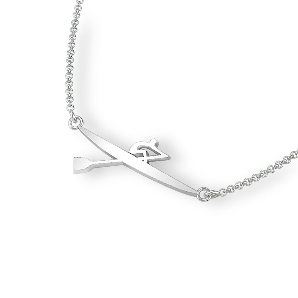 Rowing Single Scull Necklace - Strokeside Designs Rowing jewelry- Rowing Gifts Ideas- Rowing Coach Gifts