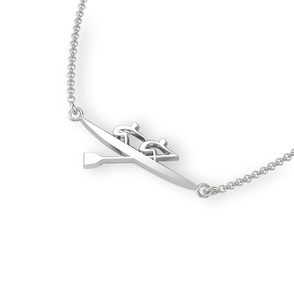 Rowing Pair Necklace - Strokeside Designs Rowing jewelry- Rowing Gifts Ideas- Rowing Coach Gifts