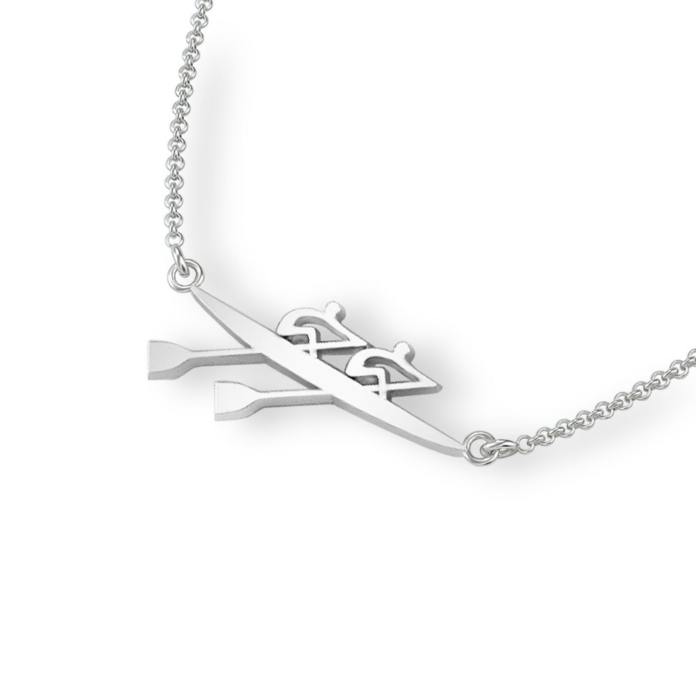 Rowing Double Scull Necklace - Strokeside Designs Rowing jewelry- Rowing Gifts Ideas- Rowing Coach Gifts