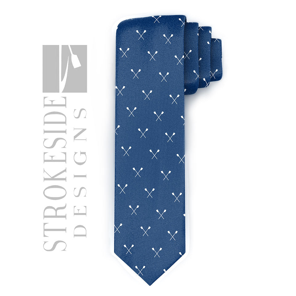 Rowing Tie - Strokeside Designs Rowing jewelry- Rowing Gifts Ideas- Rowing Coach Gifts