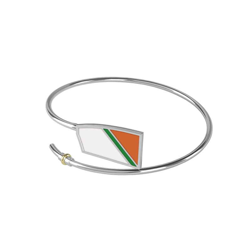 Oakland Strokes Bent Oar Bracelet - Strokeside Designs Rowing jewelry- Rowing Gifts Ideas- Rowing Coach Gifts