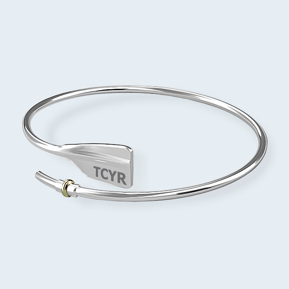 TCYR Bent Oar Bracelet - Strokeside Designs Rowing jewelry- Rowing Gifts Ideas- Rowing Coach Gifts