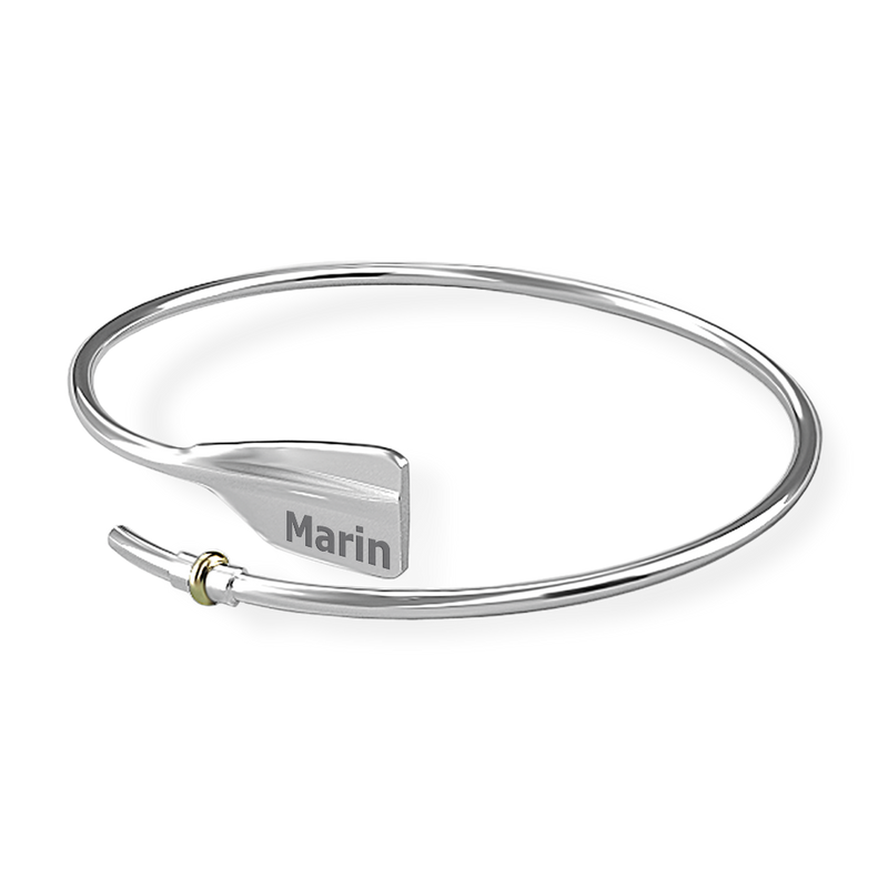 MARIN Bent Oar Bracelet - Strokeside Designs Rowing jewelry- Rowing Gifts Ideas- Rowing Coach Gifts