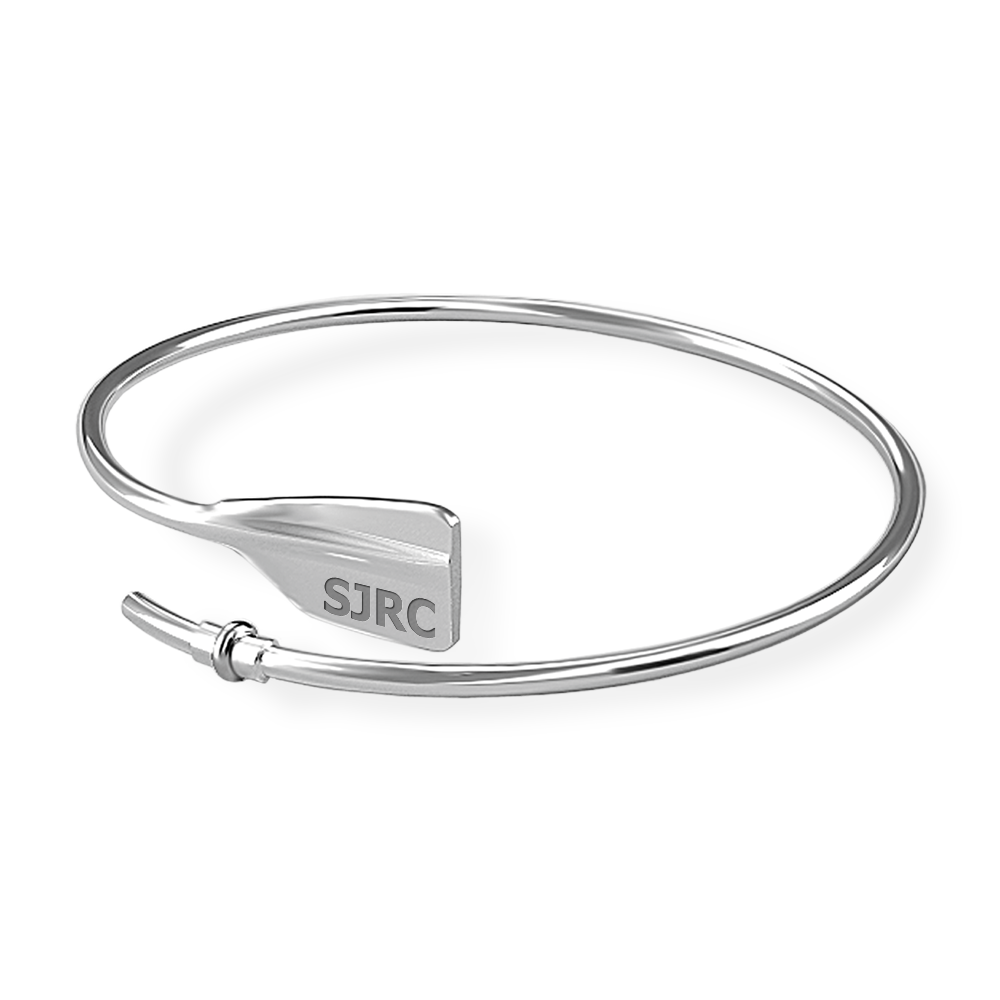 SJRC Bent Oar Bracelet - Strokeside Designs Rowing jewelry- Rowing Gifts Ideas- Rowing Coach Gifts