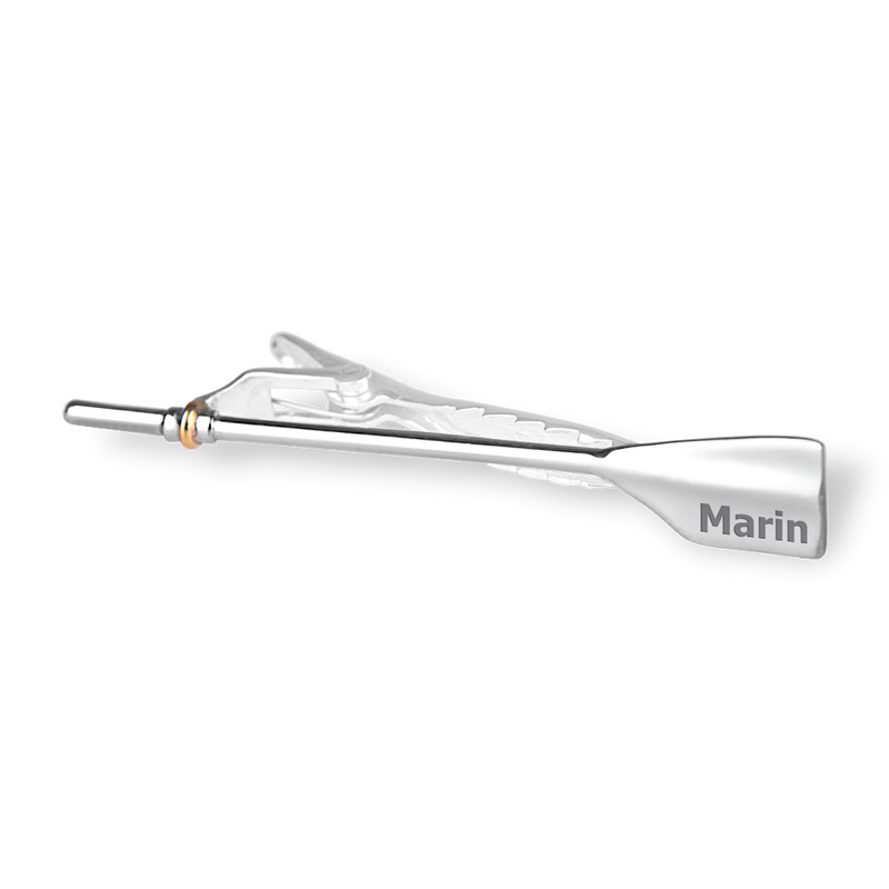 MARIN Oar Tie Tack - Strokeside Designs Rowing jewelry- Rowing Gifts Ideas- Rowing Coach Gifts