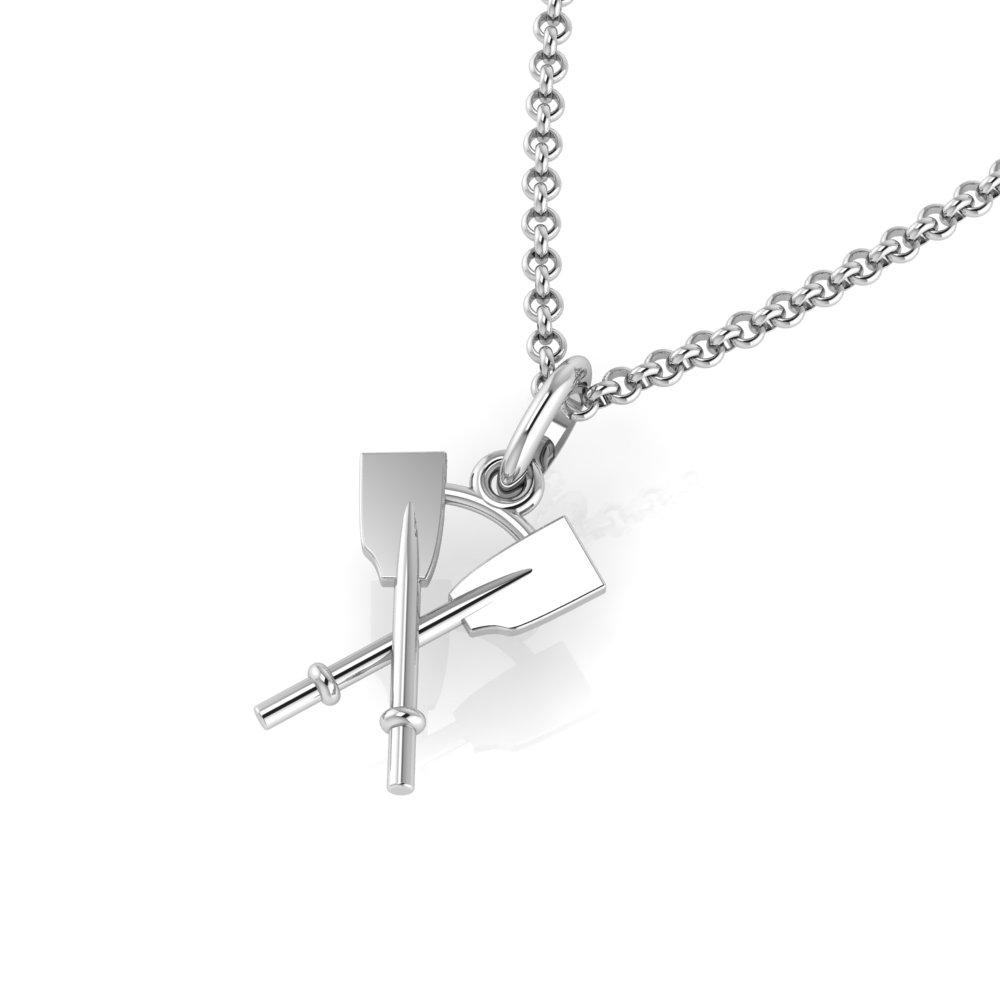 Crossed Oars Pendant