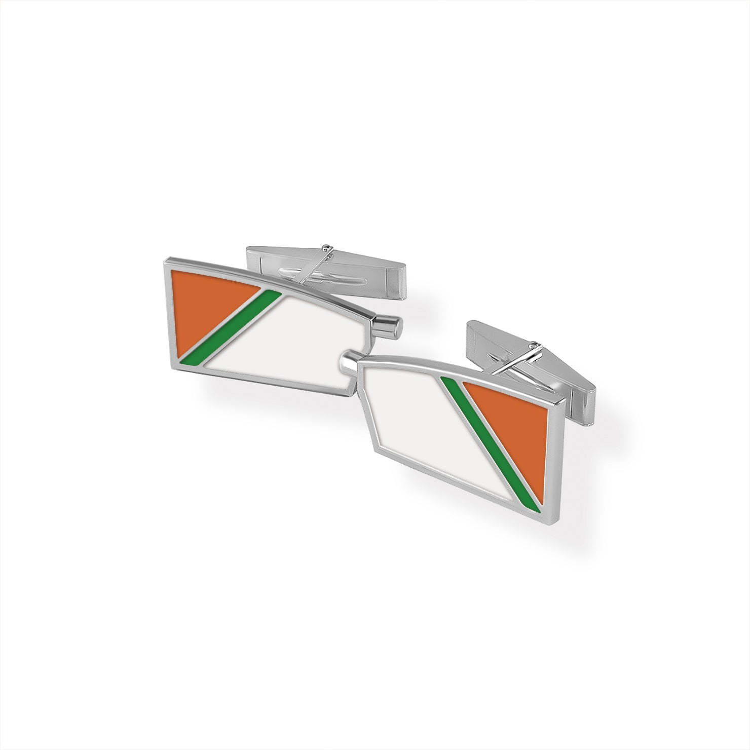 Oakland Strokes Oar Cuff Links - Strokeside Designs Rowing jewelry- Rowing Gifts Ideas- Rowing Coach Gifts